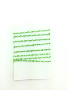 3 Feet of Lime Green 4mm Oval Link Chain