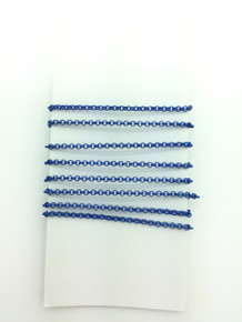 3 Feet of Blue 2mm Rolo Chain