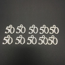 #50 Charm 16x15mm 10 pieces