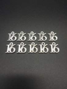#16 Charm 13x16mm 10 pieces