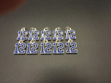 #12 Blue Enamel Charm 10 pieces