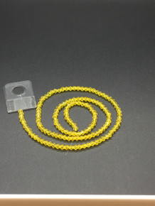 3mm Citrine Faceted Bicone