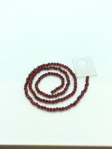 3mm Siam Faceted Bicone