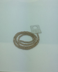 3mm Silver Champagne Faceted Bicone