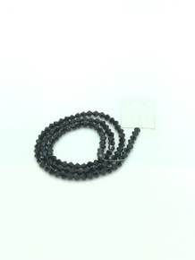 4mm Jet Faceted Bicone