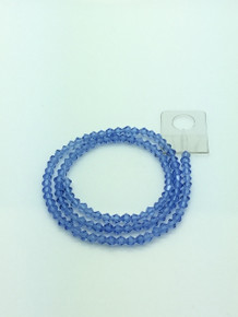 4mm Light Sapphire Faceted Bicone
