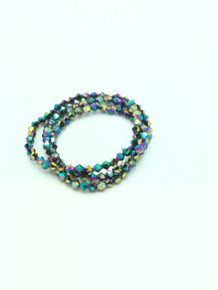 4mm Rainbow Faceted Bicone