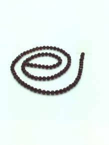 6mm Dark Red Porcelain Faceted Round