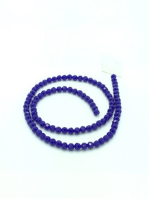 6mm Blue Porcelain Faceted Round