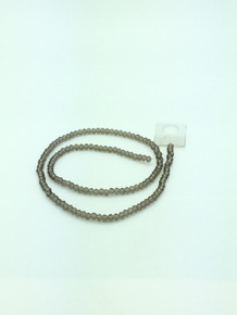4x3mm Grey Faceted Rondelle