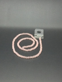 4x3mm Pinky Peach Faceted Rondelle