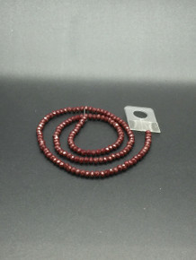 4x3mm Red Porcelian Faceted Rondelle