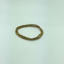 4x3mm Gold Faceted Rondelle