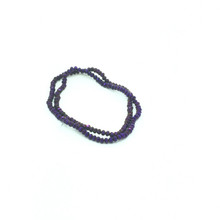 4x3mm Purple Flare Faceted Rondelle