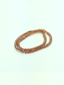 6x5mm Orange Diamond Faceted Rondelle