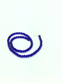6x5mm Dark Sapphire Faceted Rondelle