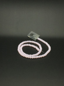 6x5mm Pink Jade Faceted Rondelle