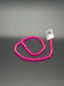 6x5mm Hot Pink Faceted Rondelle