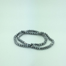 6x5mm Silver Faceted Rondelle
