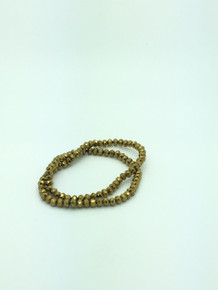 6x5mm Gold Faceted Rondelle