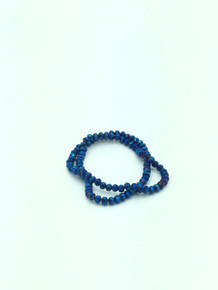 6x5mm Blue Flare Faceted Rondelle