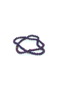 6x5mm Purple Flare Faceted Rondelle