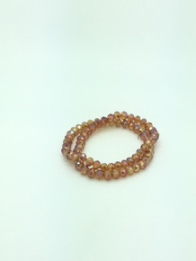 8x6mm Orange Diamond Faceted Rondelle