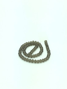 8x6mm Grey Faceted Rondelle