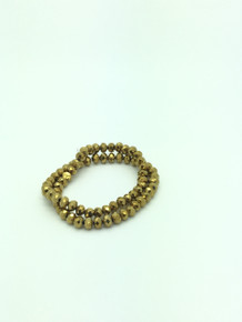 8x6mm Gold Faceted Rondelle