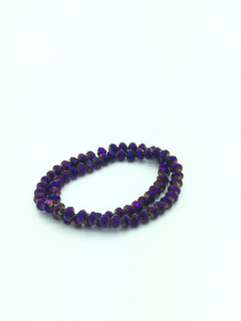 8x6mm Purple Flare Faceted Rondelle