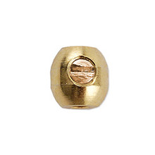 Scrimp Finding, Oval, 3.5 mm (.177 in), Gold Plated, 10 pc