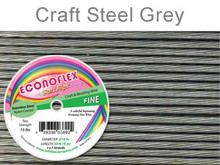 ECONOFLEX WIRE FINE .014 DIA. 30 FT (9M) 1X7 STRAND STEEL GREY