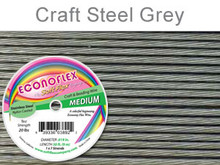 ECONOFLEX WIRE MEDIUM .019 DIA. 30 FT (9M) 1X7 STRAND STEEL GREY