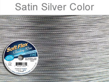 SOFT FLEX WIRE .014 DIA. 30 FT. 21 STRAND ORIGINAL SATIN SILVER