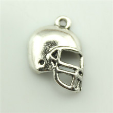Football Helmet Charm 20x15mm, 10 pieces