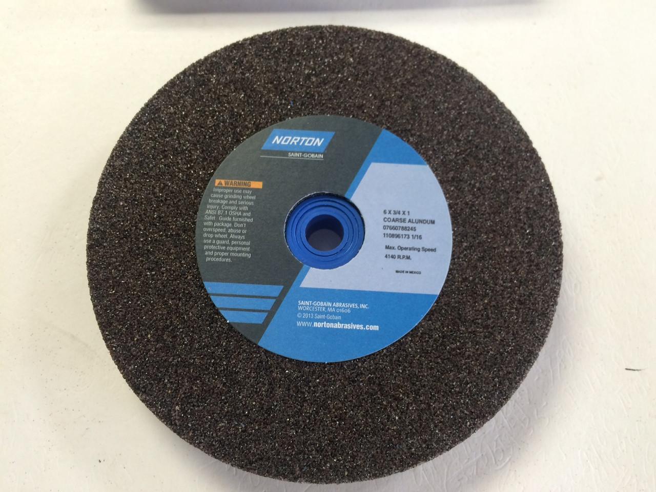Norton 07660788245 6 X3 4 X1 36 Grit Coarse Bench Grinding Wheel