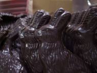 Lang's Chocolates solid 3.5 inch tall Dark Chocolate Easter Bunny