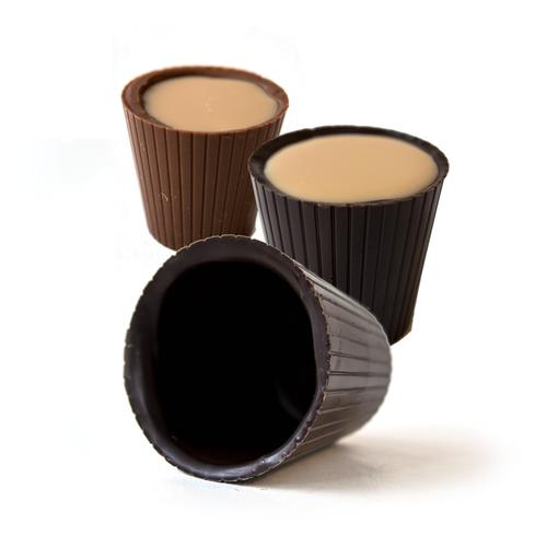 Chocolate Shot Glasses | Finest Dark Belgian & Milk Chocolates from Lang's Chocolates