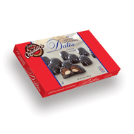 Dark Chocolate Almond Stuffed Dates | Finest Belgian & Milk Chocolates from Lang's Chocolates