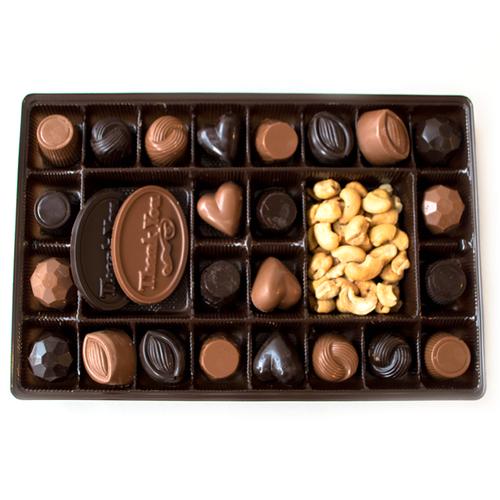 Chocolate Sampler Thank You Box | Finest Belgian & Milk Chocolates from Lang's Chocolates