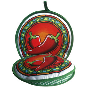 10in Pepper Medallion Tortilla Warmer