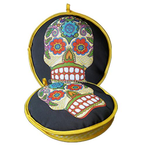Day of the Dead Skull Tortilla Warmer