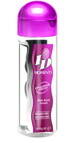 Carefully created as the gentlest off all personal lubricants, ID Moments is free from harsh ingredients that may cause skin irritations. Ideal for both sexes, it is delicate, ultra-mild and hypoallergenic formulation allows worry-free possibilities for long-lasting enjoyment to explore the magic of intimacy. Redefining perfection, ID Moments has raised the bar. It is clearly the essence of purity! Sizes: 2.8 oz bottle.