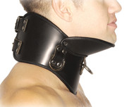 Strict Leather BDSM Posture Collar - MediumLarge
