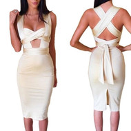 Champagne Color Sexy Bodycon Dress