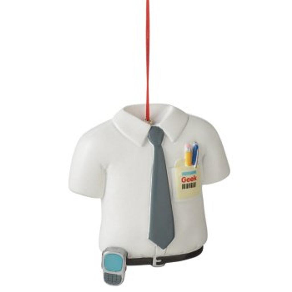 Computer Geek Shirt Ornament