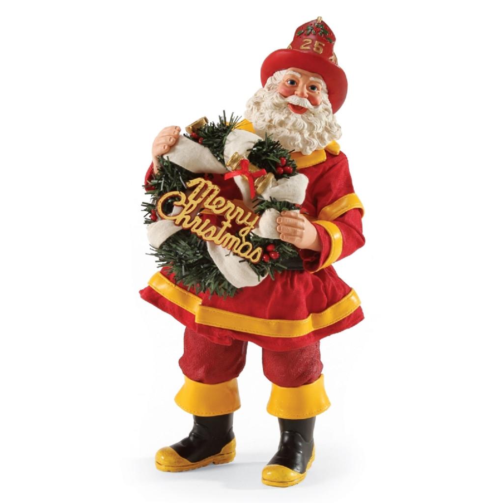 "Department 56, Possible Dreams, Rescue Santa ""Clothtique"" Figurine"