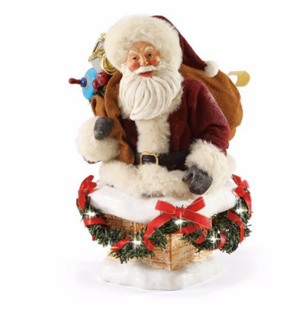"""Department 56, Possible Dreams, Hurry Down the Chimney, Santa! """"Clothtique"""" Figurine"""