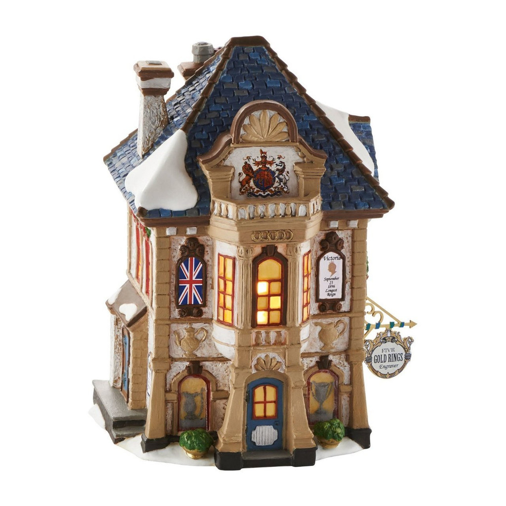 Department 56 - Dickens Village - Five Gold Rings Engraver Building