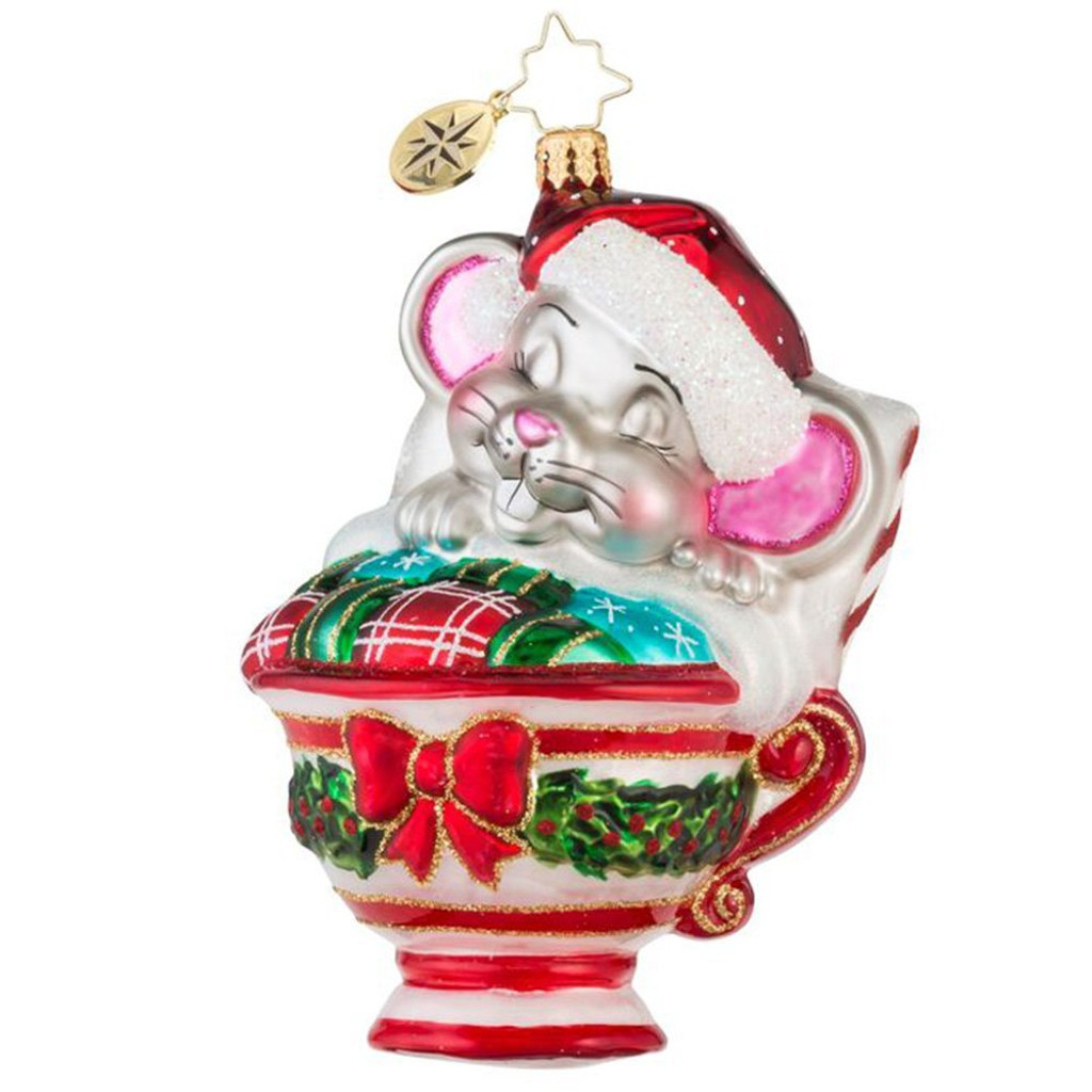 Christopher Radko - Maxwell Mouse Glass  Ornament